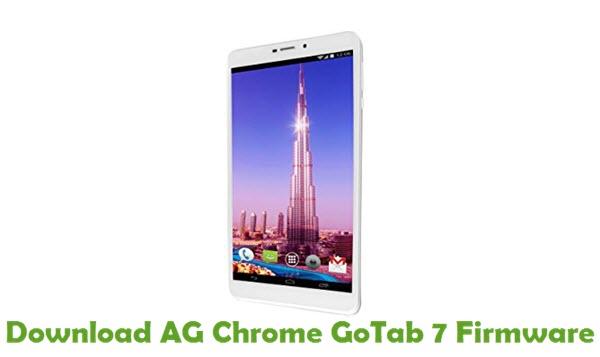 Download AG Chrome GoTab 7 Firmware