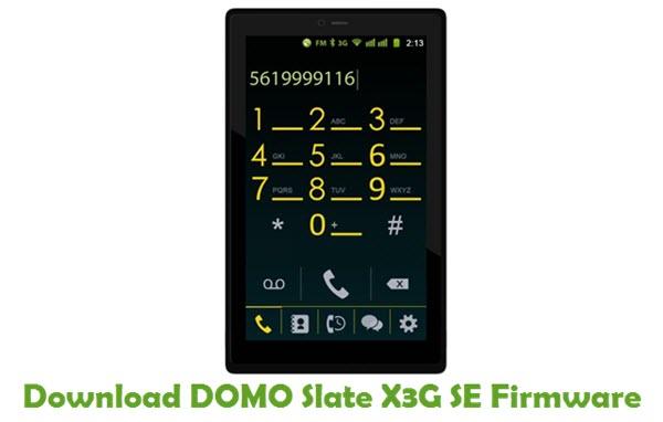 Download DOMO Slate X3G SE Firmware