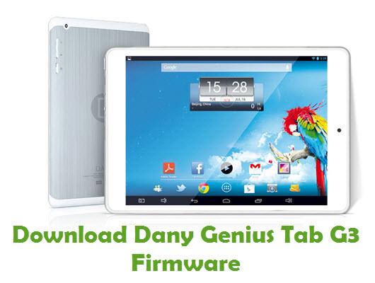 Download Dany Genius Tab G3 Firmware