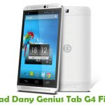 Dany Genius Tab G4 Firmware