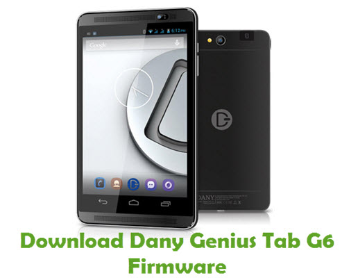 Download Dany Genius Tab G6 Firmware