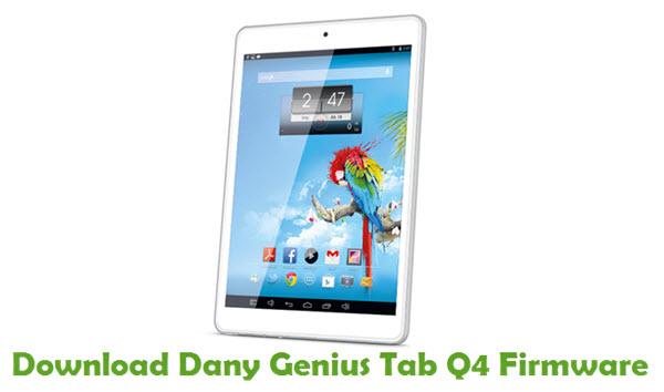 Download Dany Genius Tab Q4 Firmware