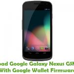 Google Galaxy Nexus GSM/HSPA With Google Wallet Firmware