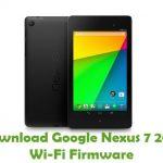 Google Nexus 7 2013 Wi-Fi Firmware