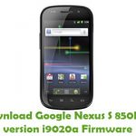 Google Nexus S 850MHz version i9020a Firmware