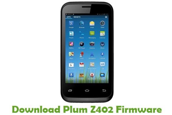 Download Plum Z402 Firmware