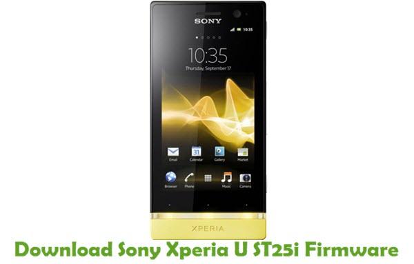 Download Sony Xperia U ST25i Firmware