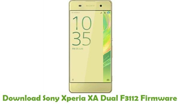 Download Sony Xperia XA Dual F3112 Firmware
