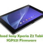 Sony Xperia Z2 Tablet LTE SGP521 Firmware