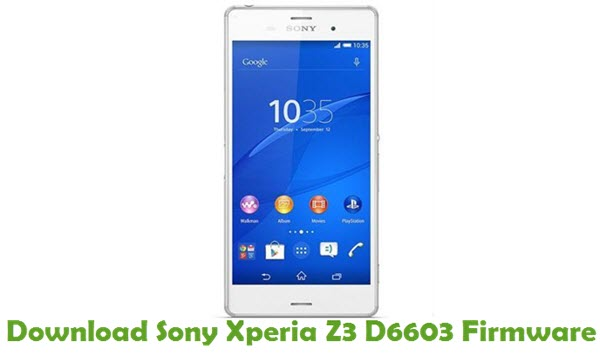 Download Sony Xperia Z3 D6603 Firmware