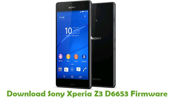 Download Sony Xperia Z3 D6653 Firmware