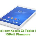 Sony Xperia Z3 Tablet Compact SGP612 Firmware
