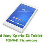 Sony Xperia Z3 Tablet Compact SGP641 Firmware
