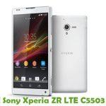 Sony Xperia ZR LTE C5503 Firmware