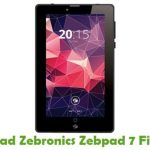 Zebronics Zebpad 7 Firmware