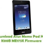 Asus Memo Pad HD7 K00B ME173X Firmware