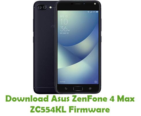 Download Asus ZenFone 4 Max ZC554KL Firmware