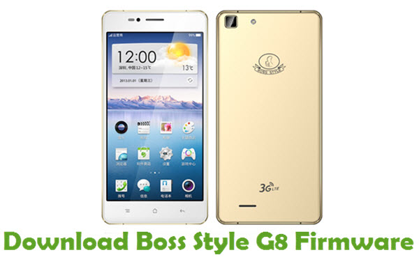 Download Boss Style G8 Stock ROM