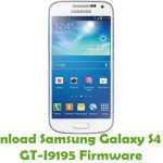 Samsung Galaxy S4 Mini GT-I9195 Firmware