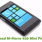 M-Horse 920 Mini Firmware