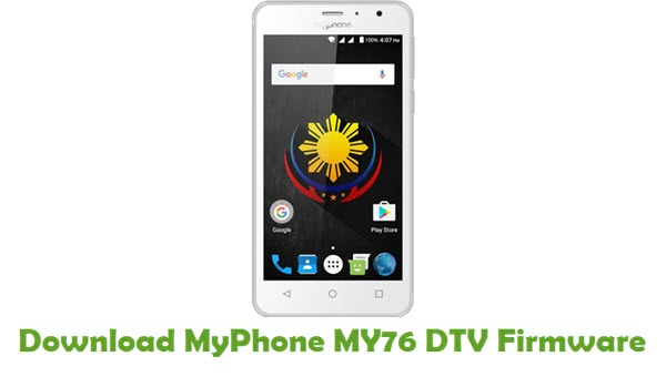 Download MyPhone MY76 DTV Stock ROM