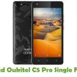Oukitel C5 Pro Single Firmware