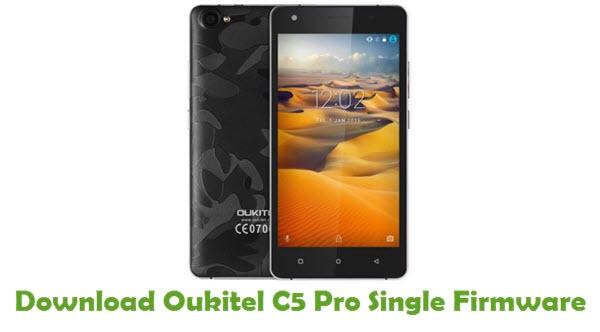 Oukitel C5 Pro Single Stock ROM