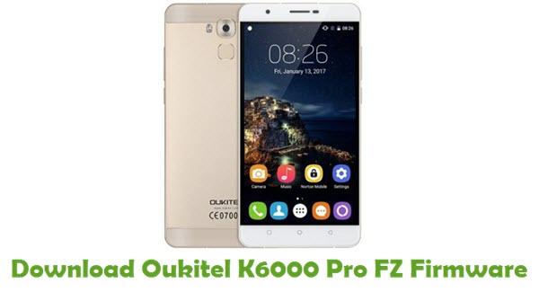 Oukitel K6000 Pro FZ Stock ROM