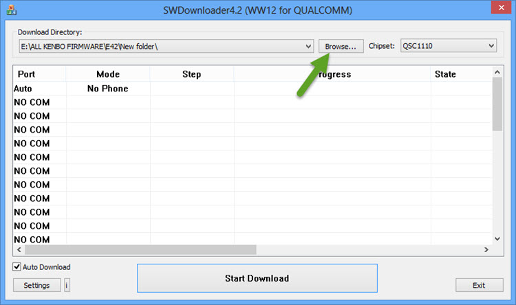Select Firmware Directory