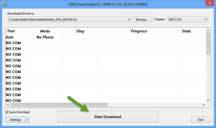 Start Download SWDownloader