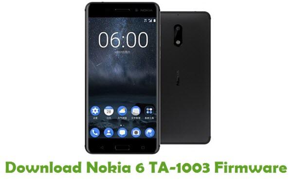 Nokia 6 TA-1003 Stock ROM