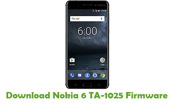 Download Nokia 6 TA-1025 Stock ROM