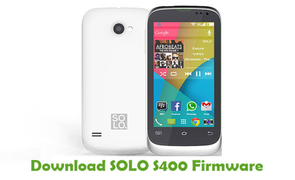Download SOLO S400 Stock ROM