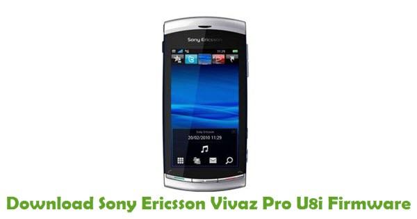 Sony Ericsson Vivaz Pro U8i Stock ROM
