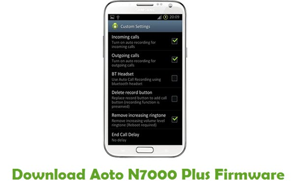 Download Aoto N7000 Plus Firmware