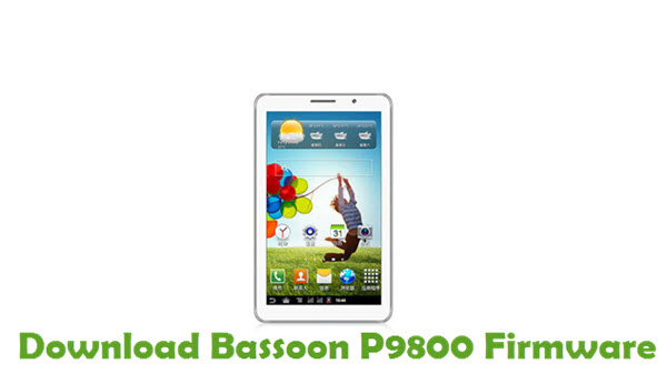 Download Bassoon P9800 Stock ROM