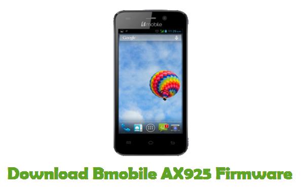 Download Bmobile AX925 Stock ROM