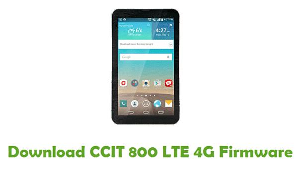 CCIT 800 LTE 4G Stock ROM