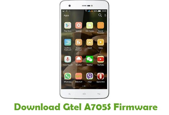 Gtel A705S Stock ROM