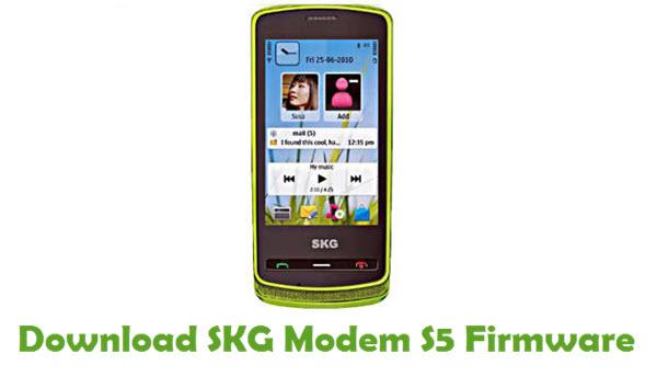 Download SKG Modem S5 Stock ROM