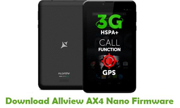 Download Allview AX4 Nano Firmware