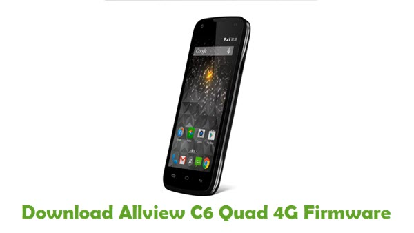 Allview C6 Quad 4G Stock ROM