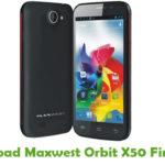 Maxwest Orbit X50 Firmware