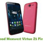 Maxwest Virtue Z5 Firmware