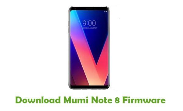 Mumi Note 8 Stock ROM