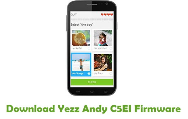 Download Yezz Andy C5EI Stock ROM