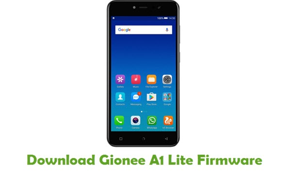Download Gionee A1 Lite Firmware