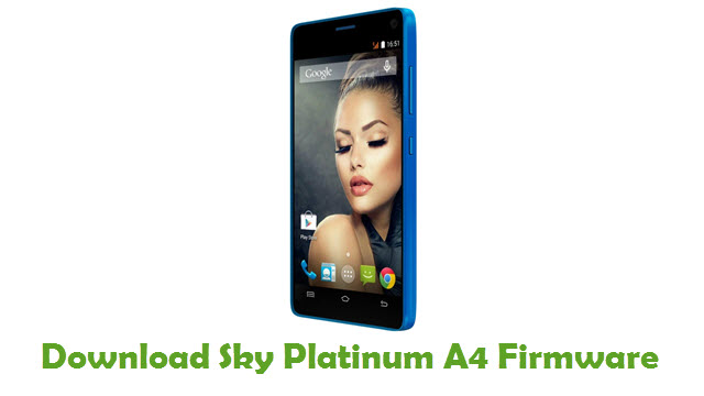 Sky Platinum A4 Stock ROM