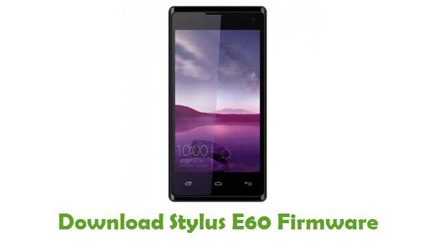 Stylus E60 Stock ROM
