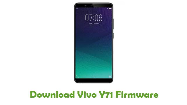 Download Vivo Y71 Firmware